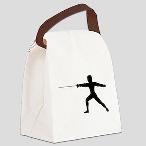 Guy Fencer Canvas Lunch Bag