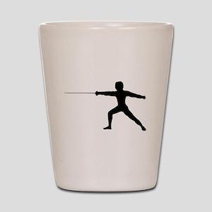 Guy Fencer Shot Glass