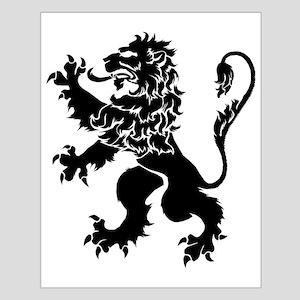 Black Lion Rampant Small Poster