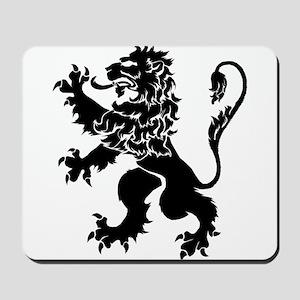 Black Lion Rampant Mousepad