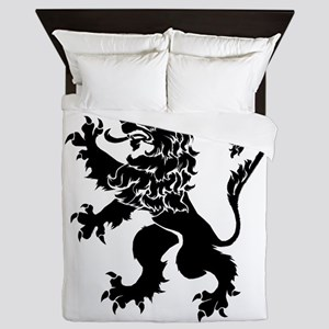 Black Lion Rampant Queen Duvet