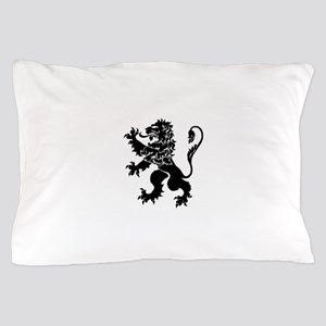 Black Lion Rampant Pillow Case
