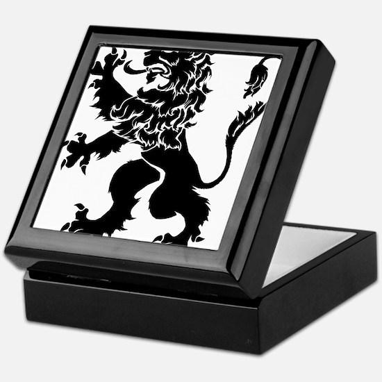 Black Lion Rampant Keepsake Box