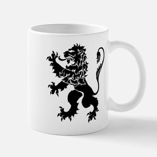 Black Lion Rampant Mug