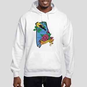 Alabama Map Hooded Sweatshirt