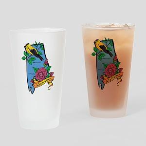 Alabama Map Drinking Glass
