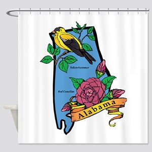 Alabama Map Shower Curtain