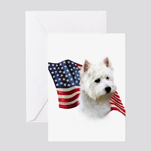 WestieFlag Greeting Cards