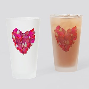 Valentine Heart of Roses Drinking Glass