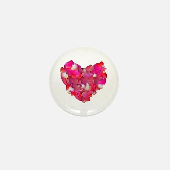 Valentine Heart of Roses Mini Button