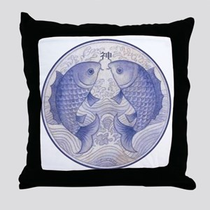 Asian Icthus Throw Pillow