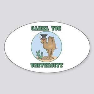 Camel Toe University Oval Sticker