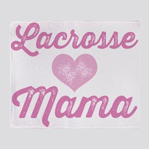 Lacrosse Mama Throw Blanket
