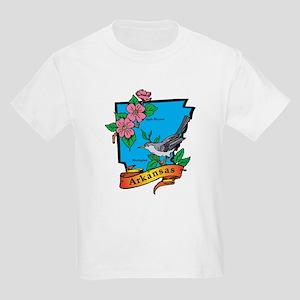 Arkansas Map Kids Light T-Shirt