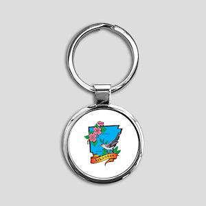 Arkansas Map Round Keychain