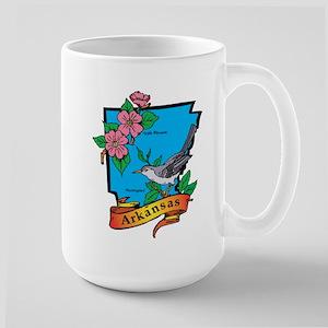 Arkansas Map Large Mug