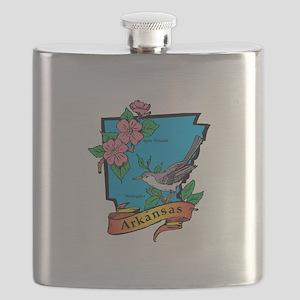 Arkansas Map Flask