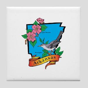 Arkansas Map Tile Coaster