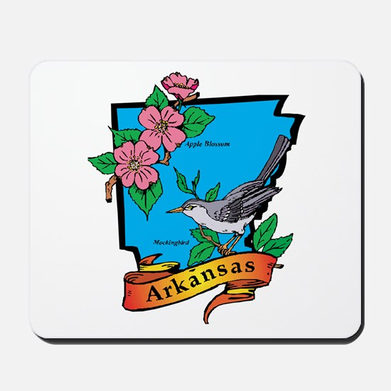 Arkansas Map Mousepad