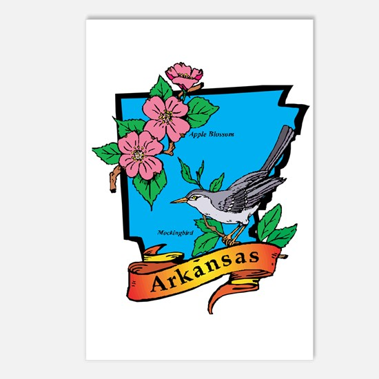 Arkansas Map Postcards (Package of 8)
