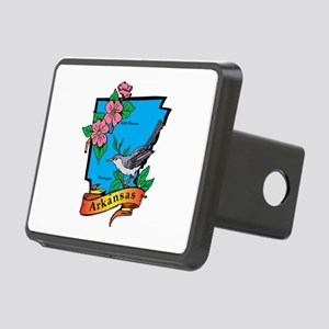 Arkansas Map Rectangular Hitch Cover