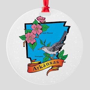 Arkansas Map Round Ornament