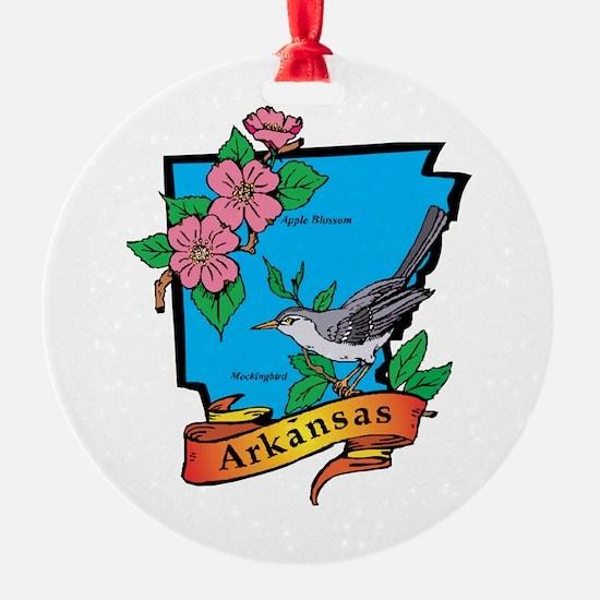 Arkansas Map Ornament