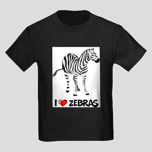 I Love Zebras Ash Grey T-Shirt T-Shirt