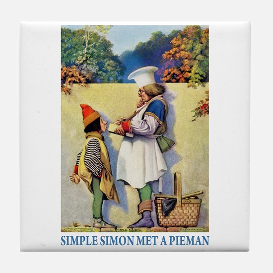 Simple Simon Met a Pieman Tile Coaster
