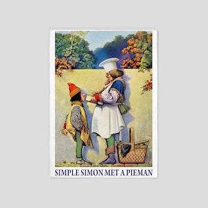 Simple Simon Met A Pieman 5'x7'Area Rug