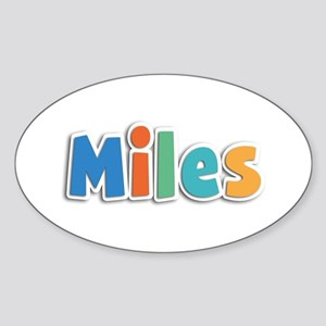 Miles Spring11B Oval Sticker