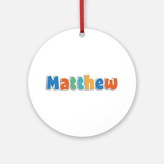 Matthew Spring11B Round Ornament