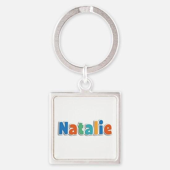 Natalie Spring11B Square Keychain