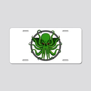 Cthulhu Rising Aluminum License Plate