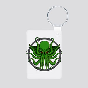 Cthulhu Rising Aluminum Photo Keychain