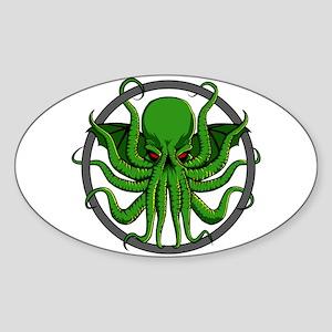 Cthulhu Rising Sticker (Oval)
