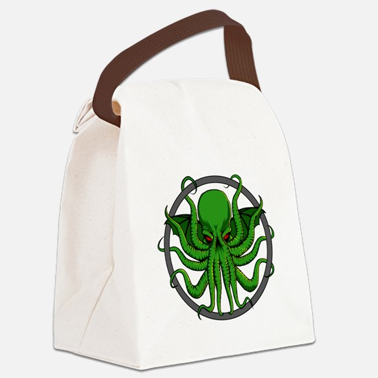 Cthulhu Rising Canvas Lunch Bag