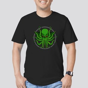 Cthulhu Rising Men's Fitted T-Shirt (dark)