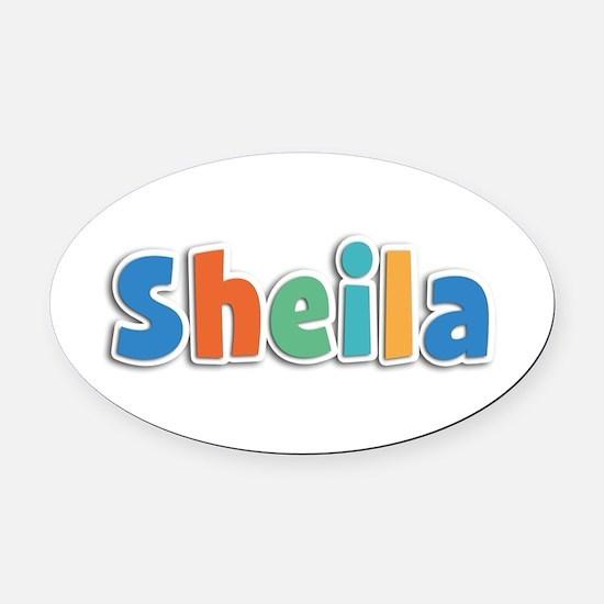 Sheila Spring11B Oval Car Magnet