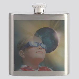 Watching solar eclipse - Flask