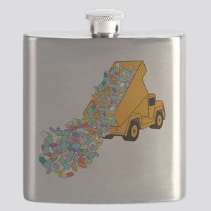 Pharmaceutical overload, conceptual image - Flask