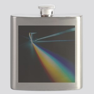 White light split into colours by a prism - Flask