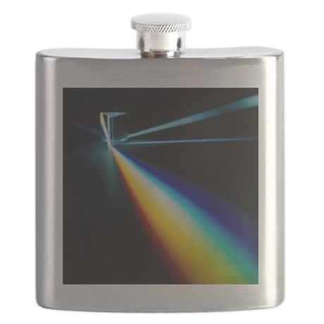 White light split into colours by a prism - Flask by ...