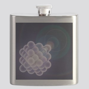 Platinum crystal, molecular model - Flask