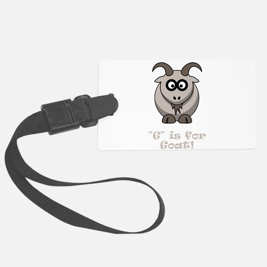 G is for Goat Tan.png Luggage Tag