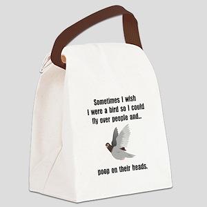 Bird Poop On Head Canvas Lunch Bag