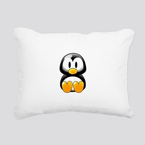 Cartoon Penguin Rectangular Canvas Pillow