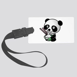 Panda Rice Black Large Luggage Tag