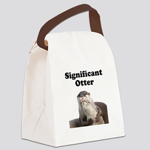 Significant Otter Black Canvas Lunch Bag