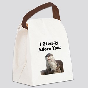 Otterly Adore Black Canvas Lunch Bag